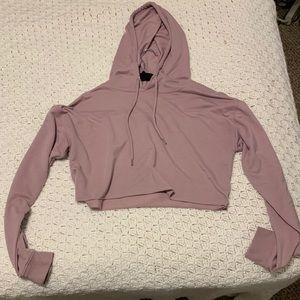 Purple cropped hoodie!!